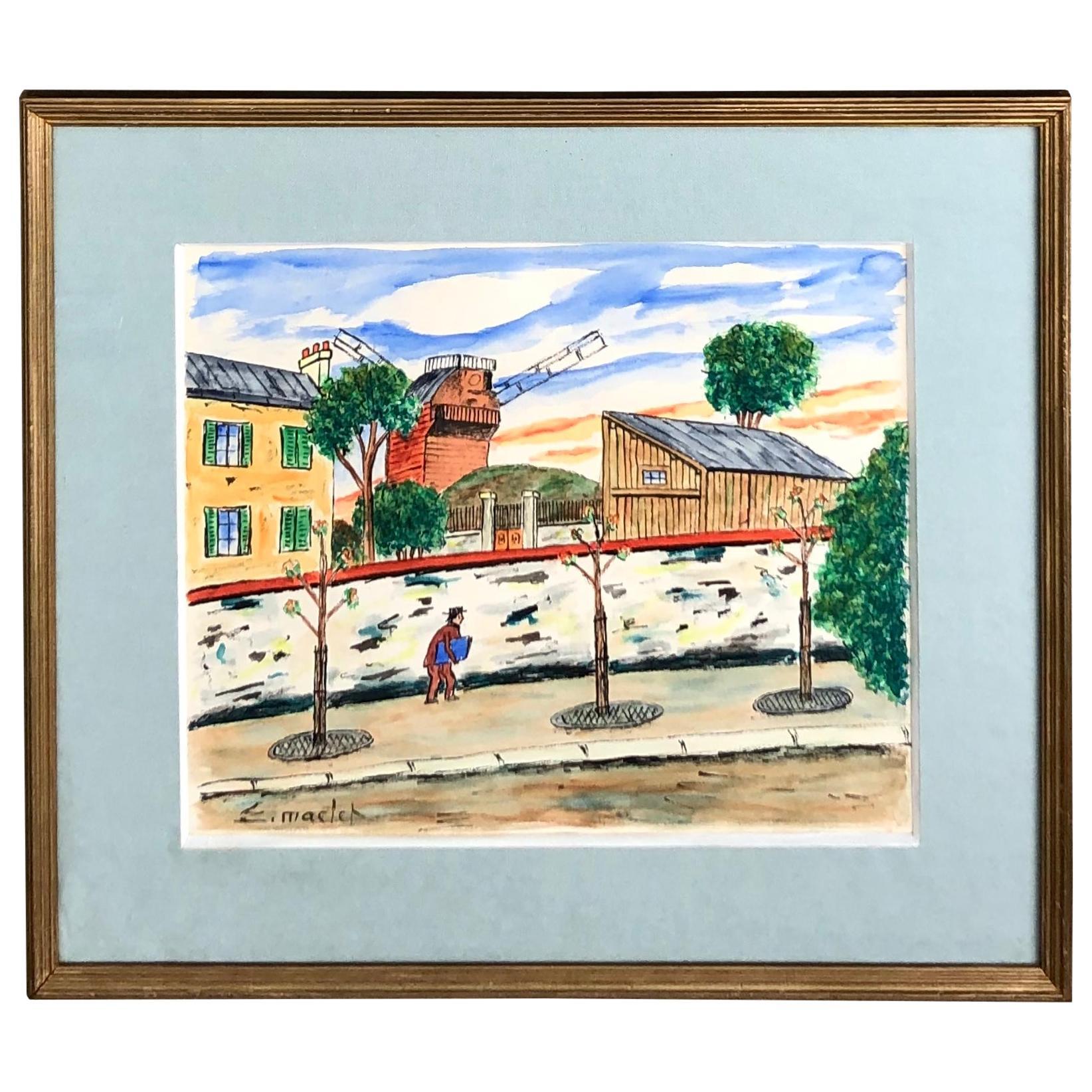 """""""Montmarte, Paris"""" by Elisée Maclet"""