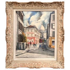 Montmartre and Sacre Coeur French Painting Signed Gilbert Forest Dated, 1904