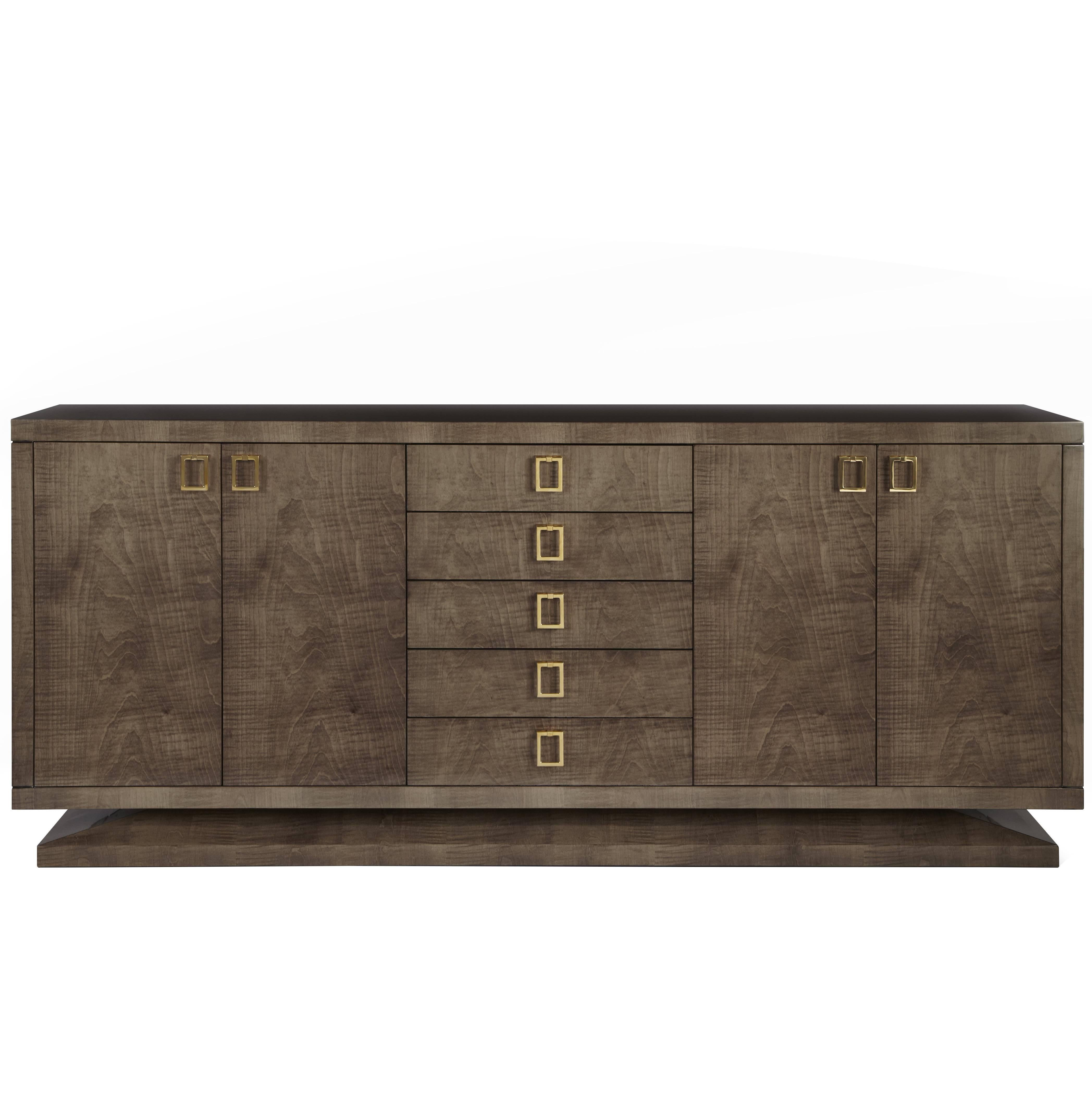 Davidson's Contemporary, Montpelier Side Cabinet, Sycamore Dusk & Brass Handles
