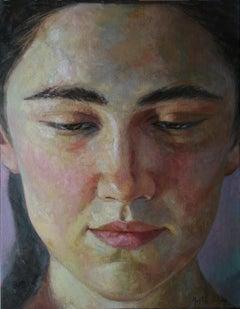 1-4-9 - 21st Century, Contemporary, Portrait Painting, Oil on Canvas