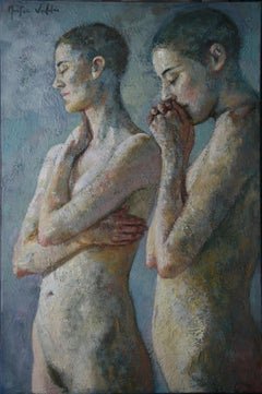 10-4-9 - 21st Century, Contemporary, Nude Painting, Oil on Canvas