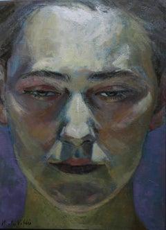 2-4-9 - 21st Century, Contemporary, Portrait Painting, Oil on Canvas