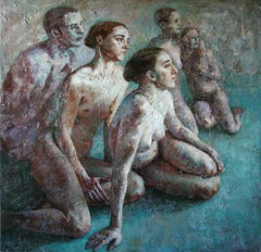2-8-10 - 21st Century, Contemporary, Nude Painting, Oil on Canvas