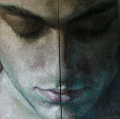 22-6-12 Diptych - 21st Century, Contemporary, Portrait Painting, Oil on Canvas