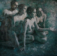 3-8-10 - 21st Century, Contemporary, Nude Painting, Oil on Canvas
