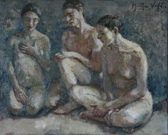 4-11-11 - 21st Century, Contemporary, Nude Painting, Oil on Canvas