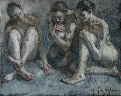6-11-11 - 21st Century, Contemporary, Nude Painting, Oil on Canvas
