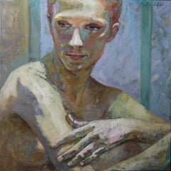 6-4-9 - 21st Century, Contemporary, Portrait, Nude Painting, Oil on Canvas