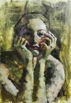74-1-10 - 21st Century, Contemporary, Portrait Painting, Oil on Canvas