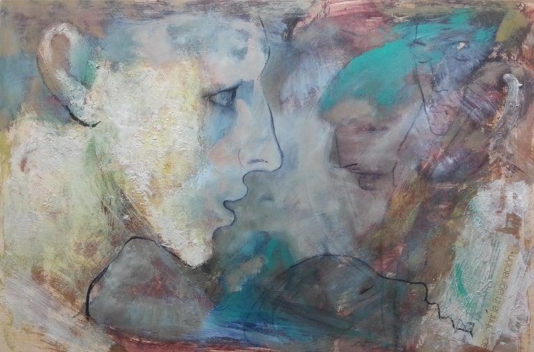 Montse Valdés Figurative Painting - nº 1b-15 - 21st Century, Contemporary, Portrait Painting, Oil on Wood Panel