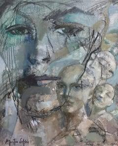 nº 3b-15 - 21st Century, Contemporary, Portrait Painting, Oil on Canvas