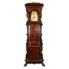 Monumental 12ft Irish Edwardian Marquetry Longcase Clock