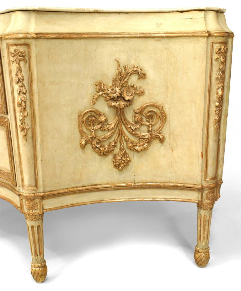 Monumental 18th C. Italian Silver Gilt Carved Commode For Sale 1