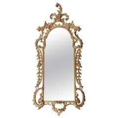 Monumental 18th Century Antique George III French Rococo Gilt Wall Mirror