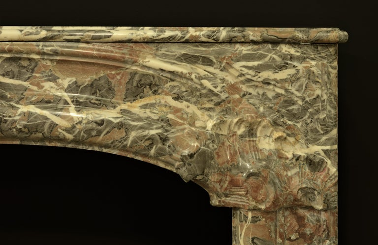 Marble Monumental 18th Century Dutch Louis XIV Fireplace Mantel For Sale