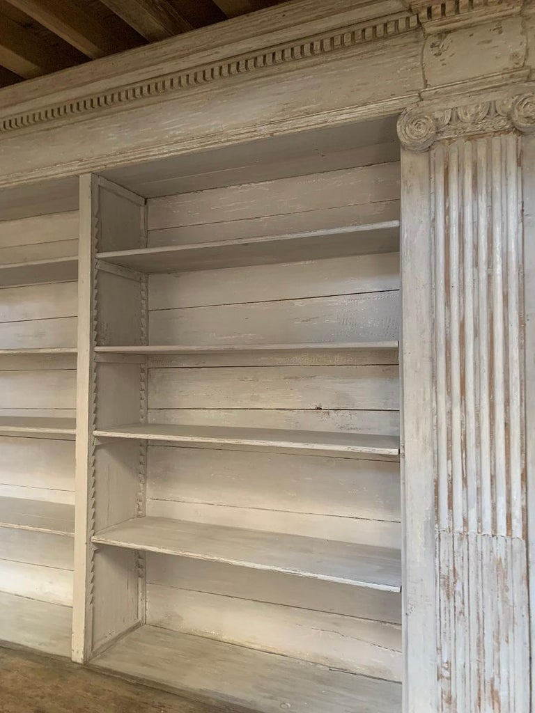 Monumental 18th Century Open Library Bookcase For Sale 5