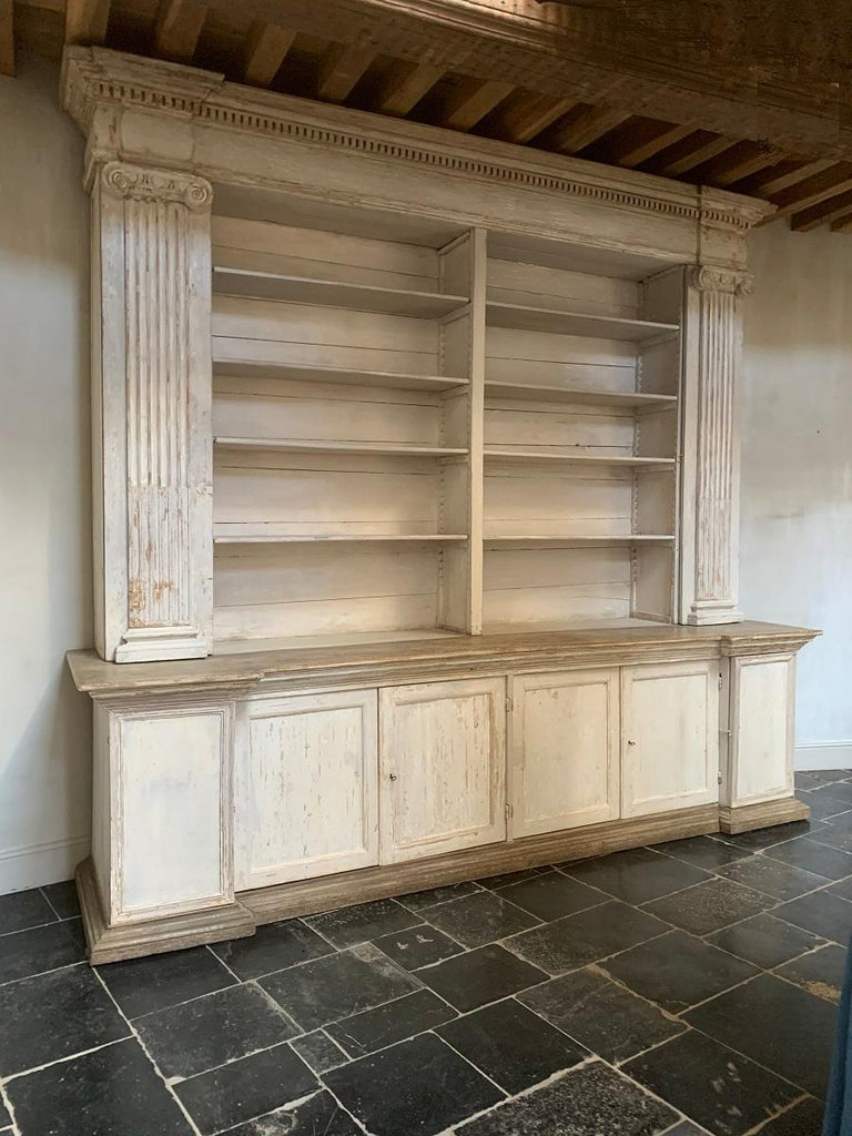 Monumental 18th Century Open Library Bookcase For Sale 8