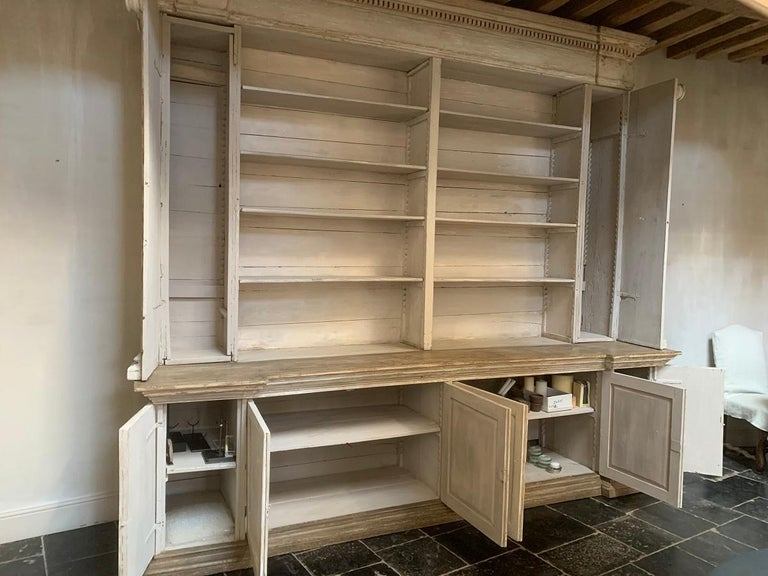 Italian Monumental 18th Century Open Library Bookcase For Sale