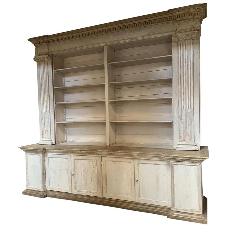 Monumental 18th Century Open Library Bookcase For Sale