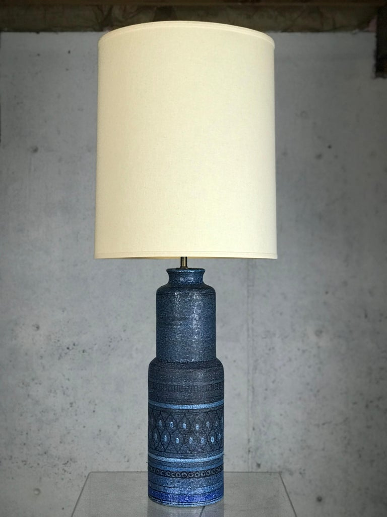Monumental 1960s Italian Ceramic Table Lamp by Bitossi for Raymor For Sale 6