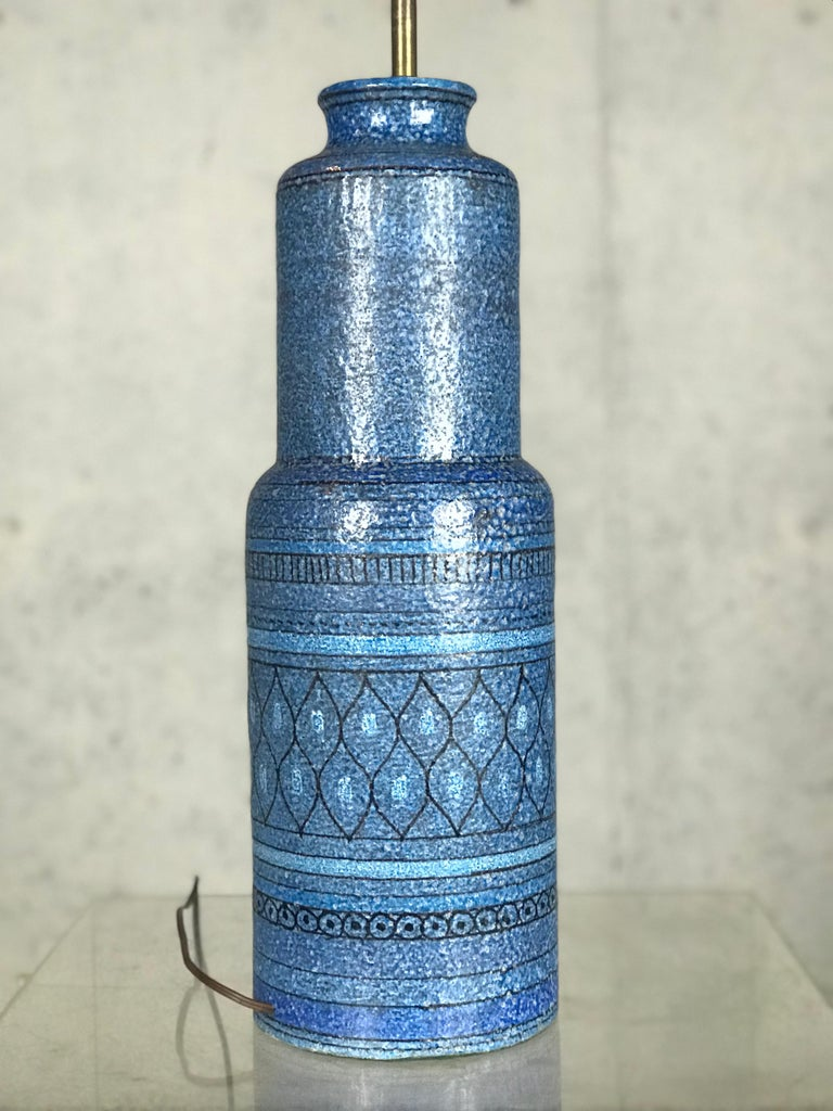 Monumental 1960s Italian Ceramic Table Lamp by Bitossi for Raymor For Sale 3