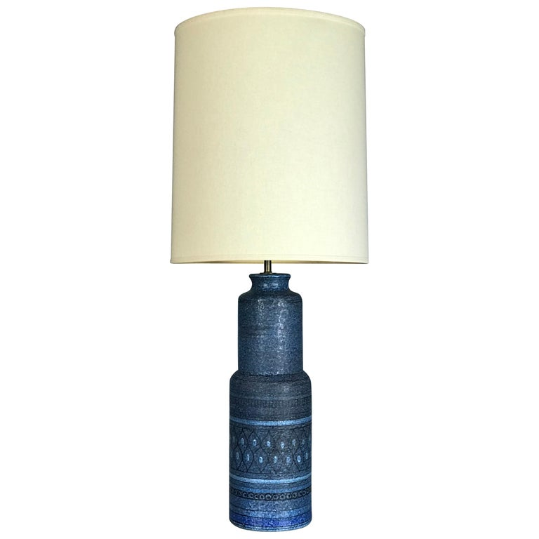 Monumental 1960s Italian Ceramic Table Lamp by Bitossi for Raymor For Sale