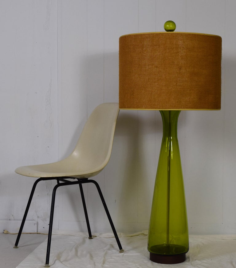 Mid-Century Modern Monumental 1960s Model 6138 Table Lamp Pair by Wayne Husted For Sale
