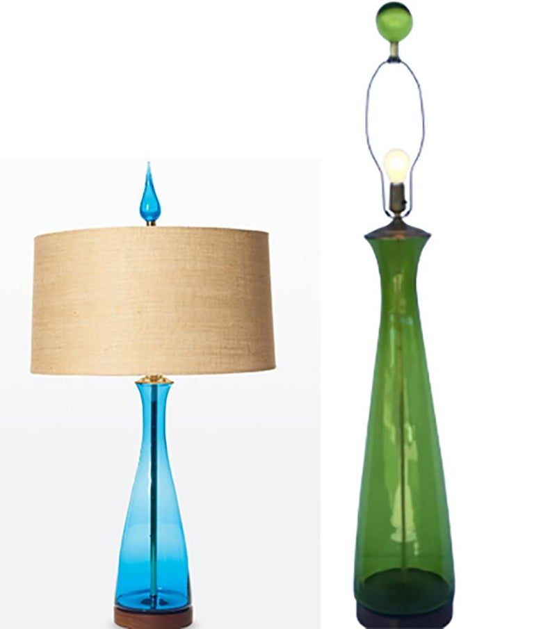 Monumental 1960s Model 6138 Table Lamp Pair by Wayne Husted For Sale 1