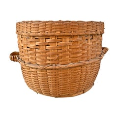 Monumental 19th Century American Feather Basket