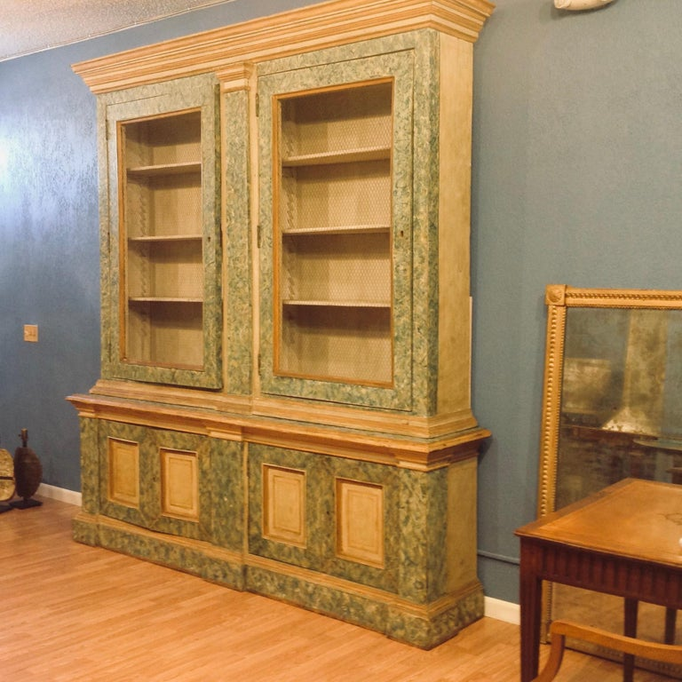 Monumental 19th Century Biblioteque In Good Condition For Sale In West Palm Beach, FL