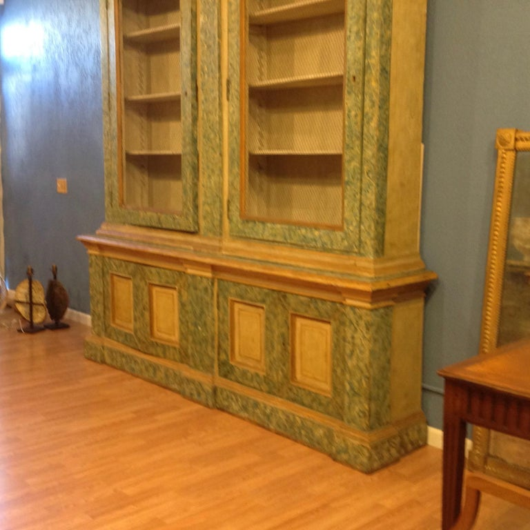 Wood Monumental 19th Century Biblioteque For Sale