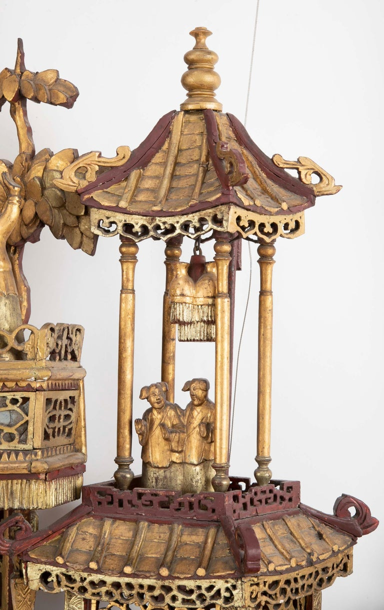 Monumental 19th Century Chinese Altar Piece For Sale 5