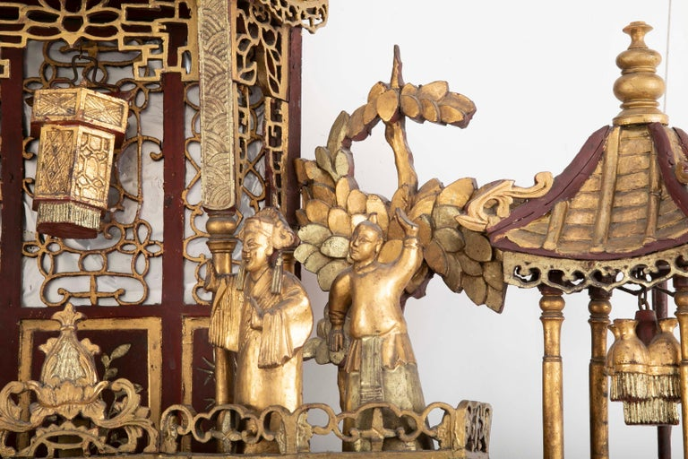 Monumental 19th Century Chinese Altar Piece For Sale 6