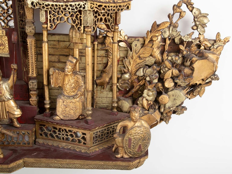Monumental 19th Century Chinese Altar Piece For Sale 7