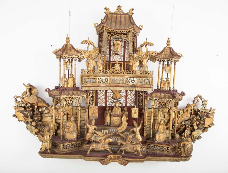 Monumental 19th Century Chinese Altar Piece For Sale 2