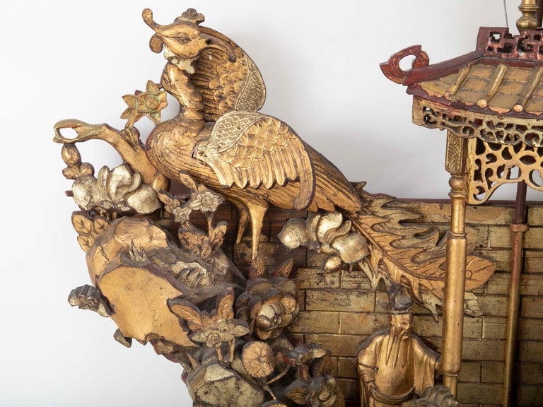 Monumental 19th Century Chinese Altar Piece For Sale 3