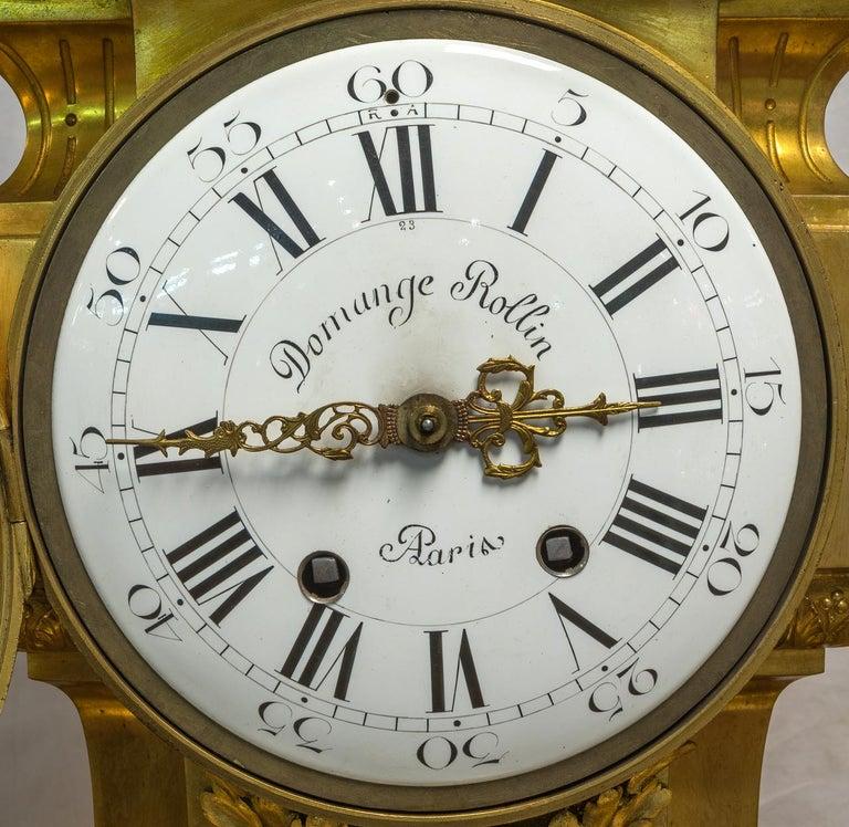 Monumental 19th Century French Three-Piece Ormolu Clock Garniture For Sale 1