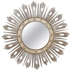 Monumental 19th Century Italian Neoclassic Sunburst Mirror