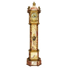 Monumental 19th Century Ormolu Mounted Onyx & Marble Longcase Grandfather Clock