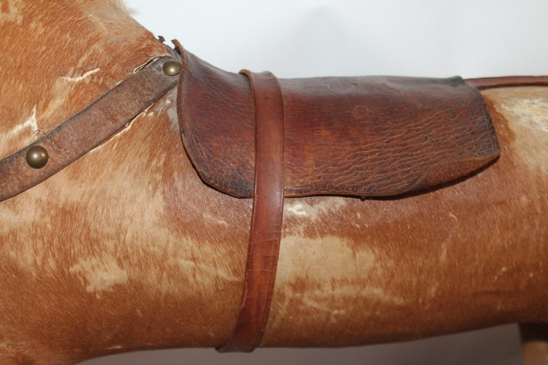 Monumental 19th Century Rocking Horse with Original Paint In Good Condition For Sale In Los Angeles, CA