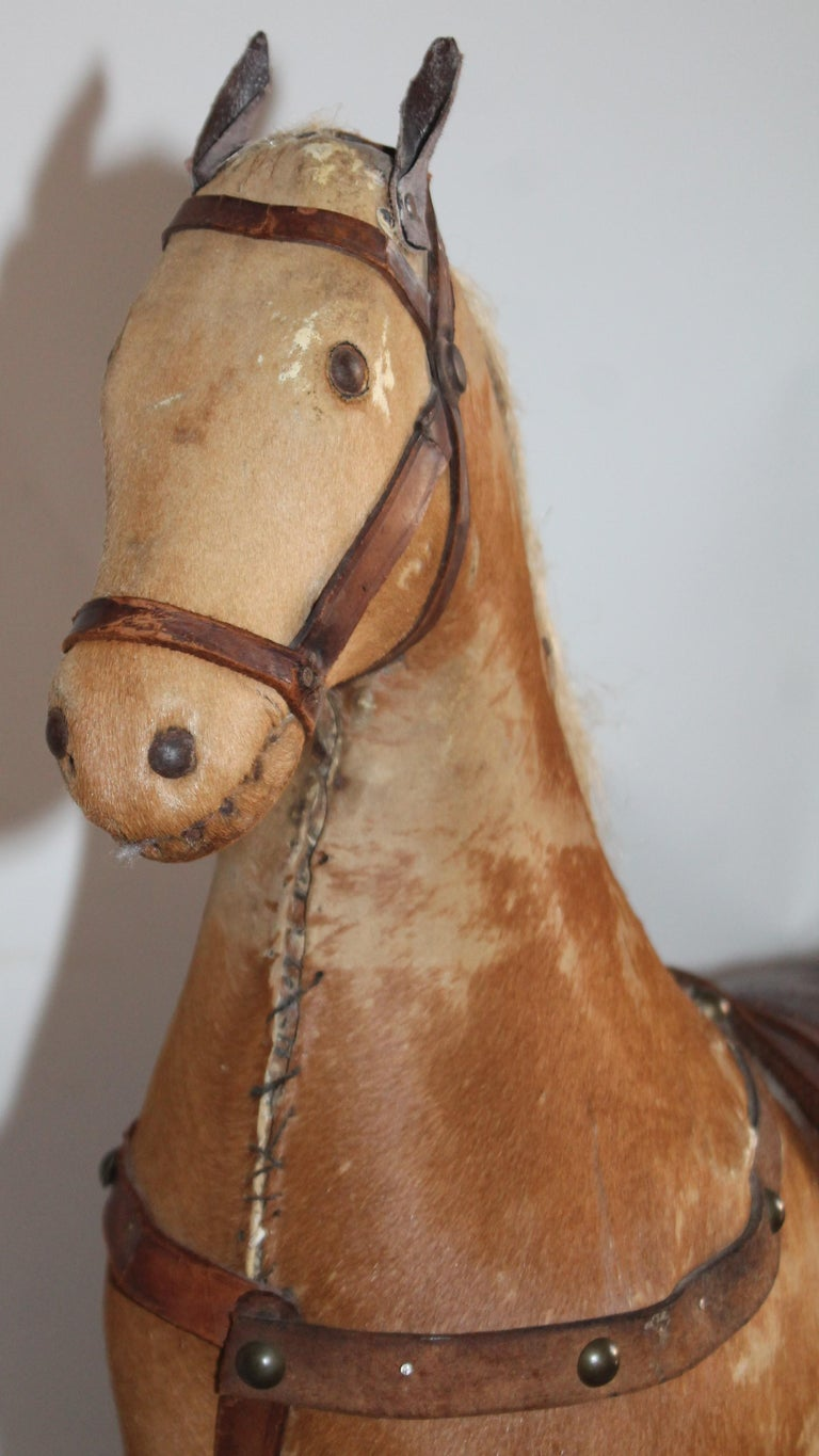 Monumental 19th Century Rocking Horse with Original Paint For Sale 2