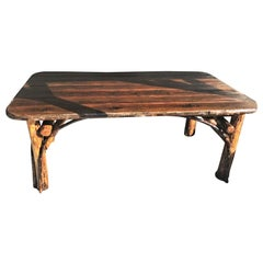 Monumental 20th Century Hickory Dining Table