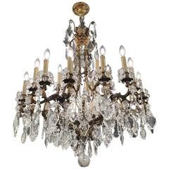 Monumental 24-Lamp Crystal Italian Chandelier