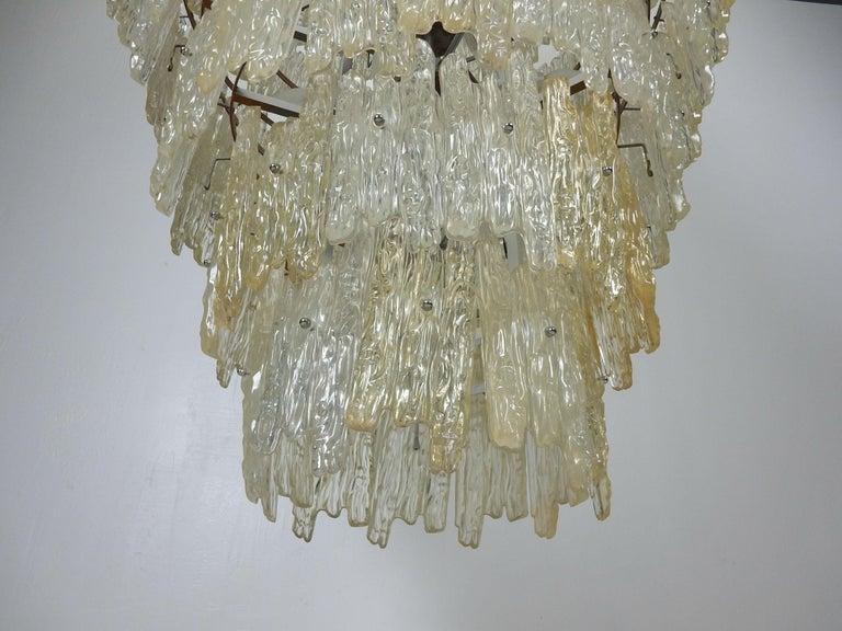Mid-20th Century Monumental J. T. Kalmar Lucite Ice Crystal Chandelier For Sale