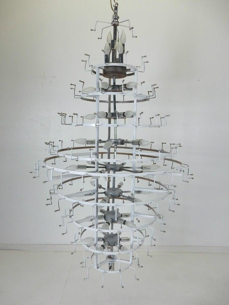 Monumental J. T. Kalmar Lucite Ice Crystal Chandelier For Sale 1