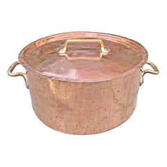 Monumental 65-Quart Copper Pot from a Country House