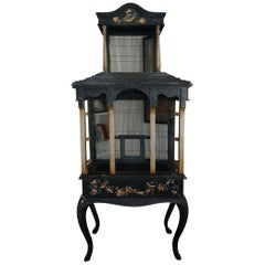 Monumental 1920s Hand Painted Hand Designed French Louis XV Bird Cage