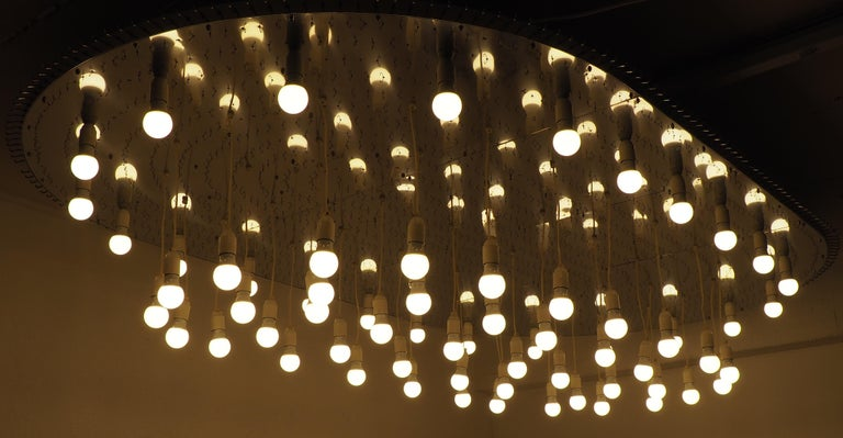 Monumental 70-Light Oval Murano Glass Chandelier, circa 1960s For Sale 2