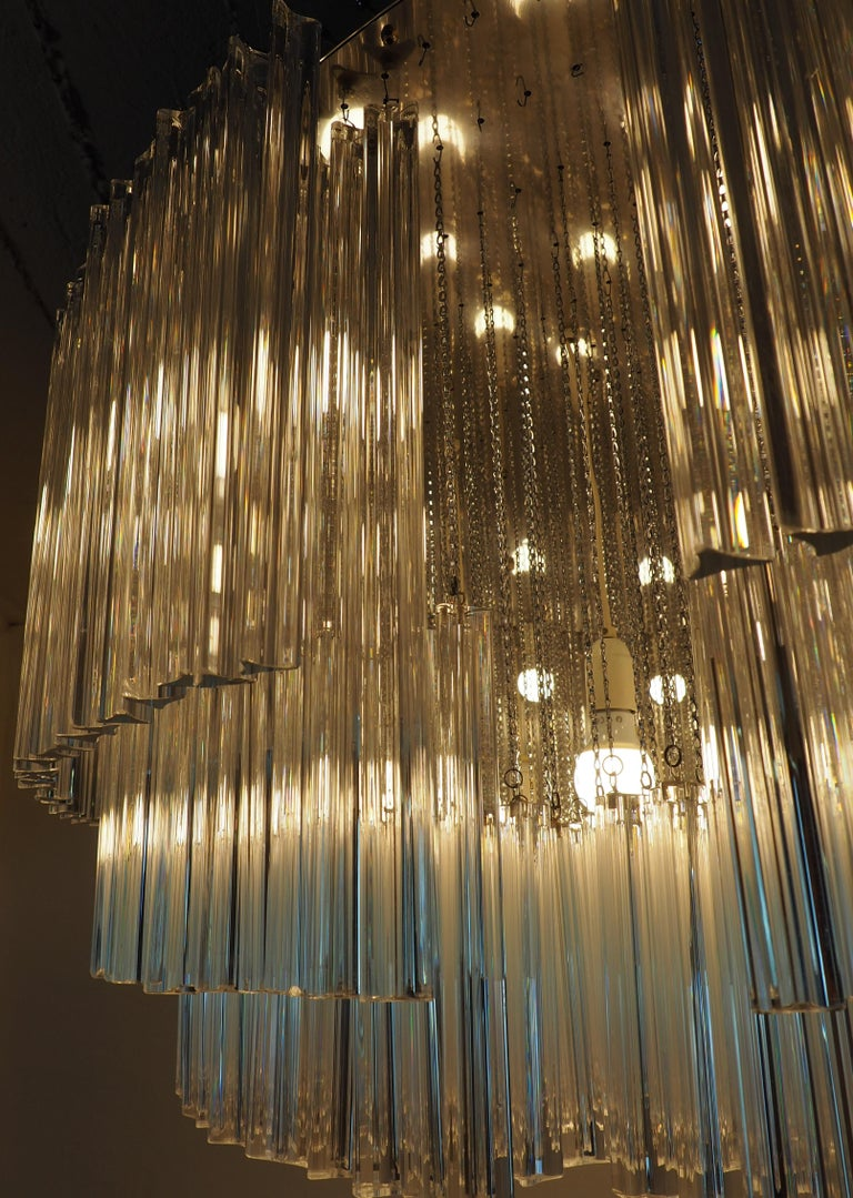 Monumental 70-Light Oval Murano Glass Chandelier, circa 1960s For Sale 4