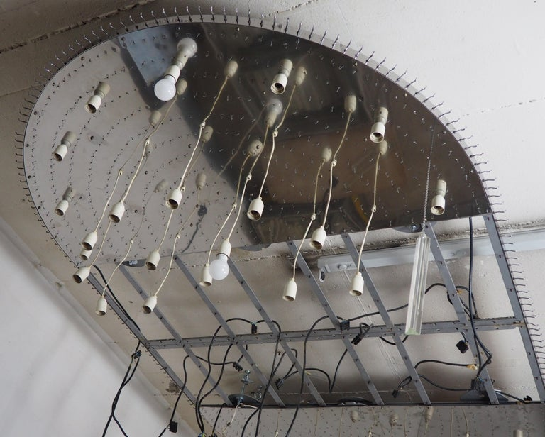 Monumental 70-Light Oval Murano Glass Chandelier, circa 1960s For Sale 5